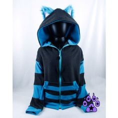 Pawstar CHESHIRE Cat HOODIE Available in Classic Pink Purple and Tim Burton  Grey and Turquoise Alt 5a9baf3156