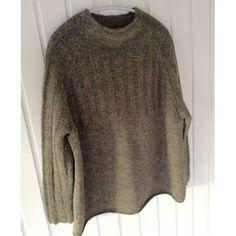 was last modified: oktober 2018 by Lone K Knitted Fabric, Knit Crochet, Oversize Pullover, Hippie Man, Olive Green Sweater, Wise Women, Knitting Designs, Knitwear, Men Sweater