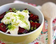 PANELATERAPIA - Blog de Culinária, Gastronomia e Receitas: Salada de Beterraba com Maionese de Limão