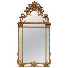 Louis XVI Gold Gilt Mirror