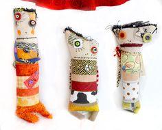 Group shot, 2011. Monster rag dolls by Diane Slagle.