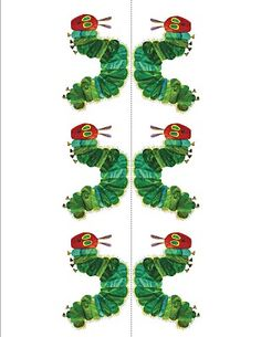 Template for Hungry Caterpillar Straws.  Just copy, cut out and put straw through.  Enough for 6 straws.