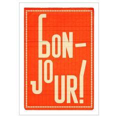 Bonjour Print from Howkapow.