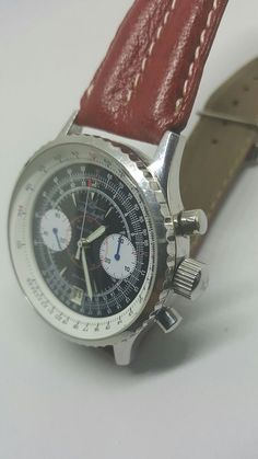 568e6c2f8d2 Poljot 3133 chronograph Blue Angels Navitimer Men s 40mm Pilot watch