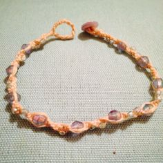 Ankle bracelet I made