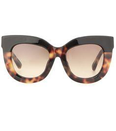 Tortoiseshell cat-eye sunglasses