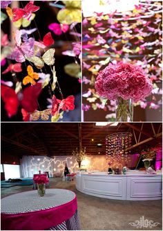 Butterfly Party Theme Ideas - Butterfly Chandelier by JLG Photo - mazelmoments.com