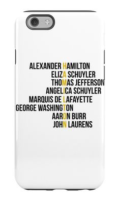 """HAMILTON"" iPhone Cases & Skins by teamotp 