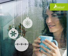 Weihnachtsdeko - Weihnachtskugel - Glastattoo Glasdekor - ein Designerstück von feenkunst bei DaWanda