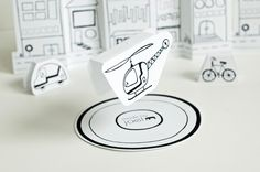 VERY cute free printable helicopter. Attach to thread and a button and let the child's imagination take over!