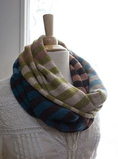 Road to China Striped Cowl by Suzanne Middlebrooks