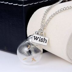 Hot Style Chain Wish Dandelion Unisex Pendant Necklace Christmas Party Jewelry