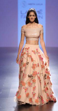 By designer Neeta Lulla. Lakme Fashion Week, India Fashion, Asian Fashion, Fashion Suits, Women's Fashion, Western Dresses, Indian Dresses, Indian Outfits, Ethnic Outfits