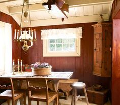 Redecorating Øyangstølen - After Cozy Cabin, Country Life, Hygge, Scandinavian Design, Sweet Home, Cottage, Indoor, Traditional, Dining