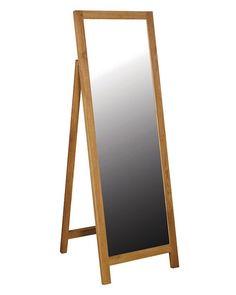MirrorDeco — Full Length Mirror (Oak Frame, H: Full Length Mirror Oak, Timeless Classic, Timeless Design, Cheval Mirror, Dressing Mirror, Autumn 2017, Beveled Glass, Elegant, Simple