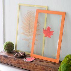 """How to Make Fall Leaf """"Stained"""" Glass"""