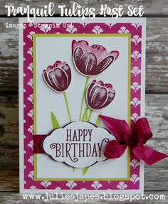 Julie Kettlewell - Stampin Up UK Independent Demonstrator - Order products 24/7: More Tranquil Tulips!