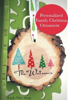 Personalized Family Christmas ornament by LittleWeeShop
