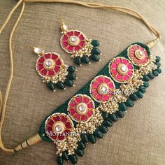 Never going wrong Thread Bangles, Thread Jewellery, Fabric Jewelry, Gold Jewellery Design, Fabric Necklace, Silver Jewellery, Indian Wedding Jewelry, Bridal Jewelry, Beaded Jewelry