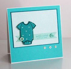 Carte bébé, body  Welcome Card