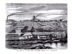 The works of the Port Phillip Gold Mining Company, Clunes. [picture] , State Library of Victoria
