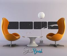 Vinyl Wall Decal Sticker Space from a window  item by Stickerbrand, $59.95