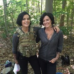 """@kyfurneaux has been my stunt double for 10 years! She's also a stunt coordinator on Blindspot. Love that lady."" -- @JaimieAlexander #Blindspot"