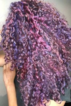Hair Color 2018 Purple Curly Hair ❤️ Dark purple hair: let us discuss the basics at first. This hair color is unnatural, that is, you cannot meet anyone who was born with such hair color. So, to get it, you need to get your hair dyed. Dyed Curly Hair, Colored Curly Hair, Long Curly Hair, Curly Hair Styles, Natural Hair Styles, Curly Purple Hair, Afro Hair, Natural Curls, Curly Girl