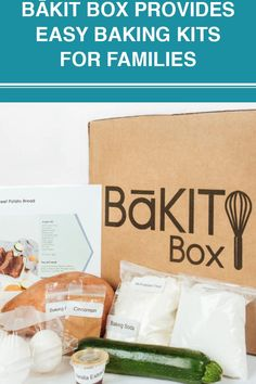 BāKIT Box is a delivery box service that provides all of the pre-measured ingredients to bake everything from zucchini sweet potato bread and strawberry shortcake to salted chocolate chip cookies and burger buns, with easy-to-follow instructions. The product is geared towards families. Salted Chocolate Chip Cookies, Sweet Potato Bread, Burger Buns, Strawberry Shortcake, Fun Activities, Baking Soda, Kit, Zucchini, Families