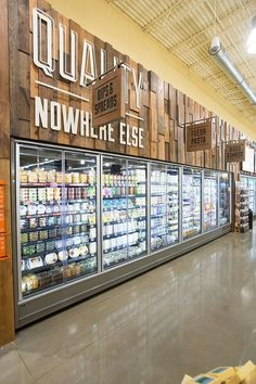 Supermarket freezer cabinet and displays branding. Supermarket Design, Retail Store Design, Retail Shop, Deco Marine, Magazin Design, Fruit Shop, Store Layout, Food Retail, Retail Interior