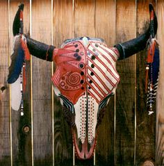 by Lion Fire Deer Skull Art, Deer Skulls, Skull Decor, Crane, Painted Animal Skulls, Skull Stencil, Native American Cherokee, Buffalo Skull, Deer Mounts