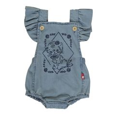 Rock Your Baby - Kitty Ruffle Romper