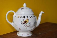 upcycled vintage wedgewood ceramic teapot
