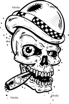 Punk Tattoo Designs | Punk Tattoo Style Skull With Wings Smoking A Cigar Wingnut Designs ...