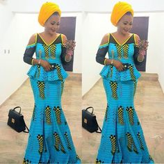 Inspirational Ankara Skirt and Blouse Styles For Women.Inspirational Ankara Skirt and Blouse Styles For Women African Fashion Ankara, Latest African Fashion Dresses, African Print Dresses, African Dress, Latest Fashion, Fashion Styles, African Lace, African Prints, Fashion Tips