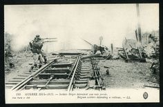 Old Postcard. Ww1. Belgian Soldiers Defending A Railway.   Vise Paris No 190.  in Collectables, Postcards, Military, World War I (1914-1918)   eBay