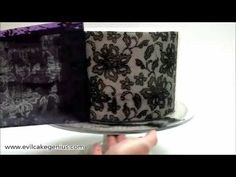 Floral Lace Netting Stencil ❤ https://www.youtube.com/watch?v=fmGkJM2qcco