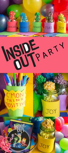 How to Throw a Inside Out Party On a Budget    #InsideOutEmotions ad