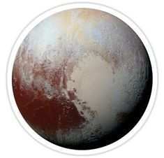 'Pluto' Sticker by Jon Harris Tumblr Stickers, Phone Stickers, Cool Stickers, Printable Stickers, Aesthetic Collage, Aesthetic Stickers, Moon Art, Textured Background, Iphone Cases