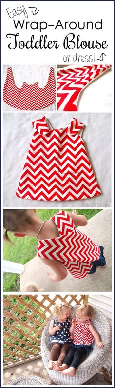 Suuuper simple wrap-around dress tutorial... so cute for toddlers! {Sawdust and…