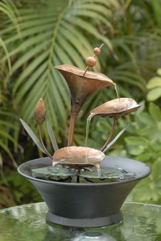 Order Kontiki Water Features - Decorative Table Top Fountains Metal Flower Table Top Fountain, delivered right to your door. Table Flowers, Metal Flowers, Feng Shui, Garden Water Fountains, Fountain Garden, Outdoor Fountains, Indoor Fountain, Water Gardens, Fountain Park