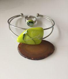 Armband Ring Glasfusing Sieraden door CHARLOTTeGLAsARt op Etsy