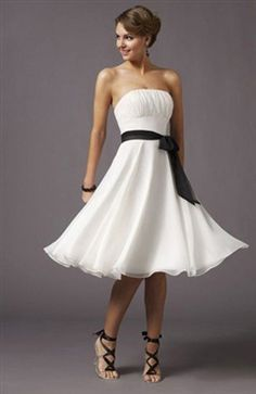 A-Line Strapless Cocktail Dress With Sash $39.9