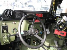 HMMWV drivers compartment view