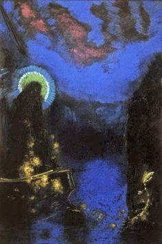 Le Prince Lointain: Odilon Redon (1840-1916), Vierge Nimbée - 1898