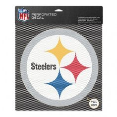 6-Inch Pittsburgh Steelers Logo Perforated Vinyl Window Graphic