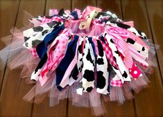 Pink Cowgirl costume - cowgirl skirt - Cowgirl birthday Tutu, Double layer, shabby chic fabric tutu skirt - Choose your size Cow Birthday, Cowgirl Birthday, Bday Girl, Birthday Tutu, 3rd Birthday Parties, Birthday Ideas, 1st Birthdays, Birthday Celebration, Cowgirl Tutu