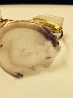 3 stone bangle on Etsy, $19.00