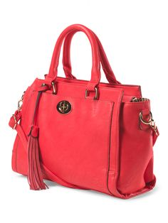 We Love This Leather Handbag Red Perfect Pop Of Color To Add Your