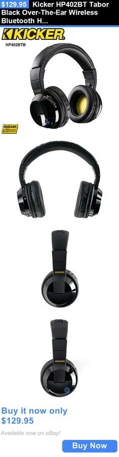 Other iPod and Audio Player Accs: Kicker Hp402bt Tabor Black Over-The-Ear Wireless Bluetooth Headphones BUY IT NOW ONLY: $129.95